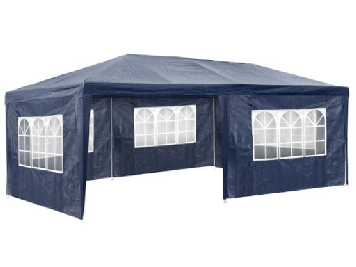 tonnelle de jardin barnum auvent chapiteau tente pavillon de jardin 3x6 m bleu tente barnum. Black Bedroom Furniture Sets. Home Design Ideas