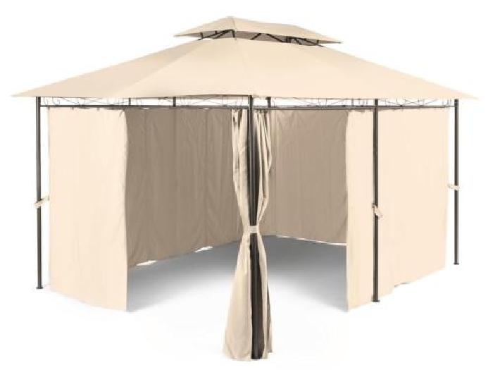 Pavillon tente barnum jardin gazebo tonnelle fête 3x4m acier ...