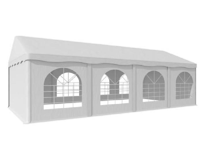 Tonnelle barnum 4x8m fenêtres chapiteau jardin réception fête ...