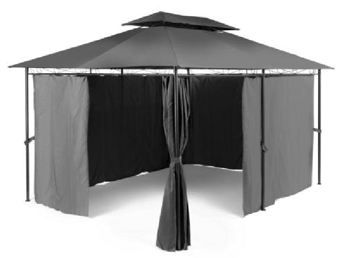 pavillon tente barnum jardin gazebo tonnelle f te 3x4m acier polyester gris tente barnum. Black Bedroom Furniture Sets. Home Design Ideas