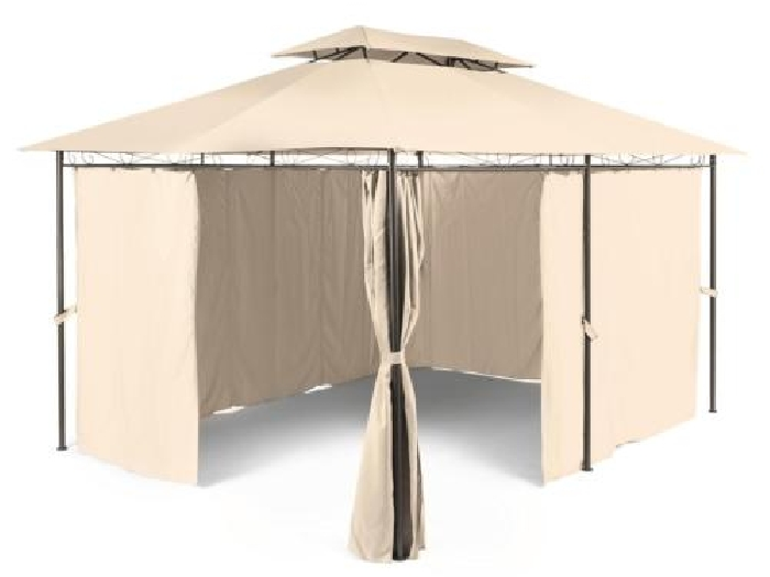 pavillon tente barnum jardin gazebo tonnelle f te 3x4m acier polyester beige tente barnum. Black Bedroom Furniture Sets. Home Design Ideas