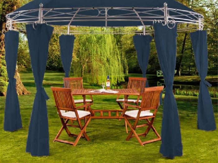 tonnelle toscana bleu 3 5 m pavillon tente de jardin. Black Bedroom Furniture Sets. Home Design Ideas