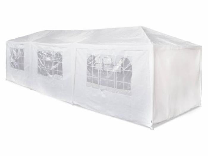 Tente de réception 3x9m Massilia toile blanche - 27 m² ...