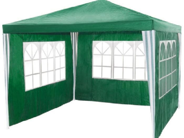 tonnelle de jardin barnum auvent chapiteau tente pavillon de jardin 3x3 m vert tente barnum. Black Bedroom Furniture Sets. Home Design Ideas