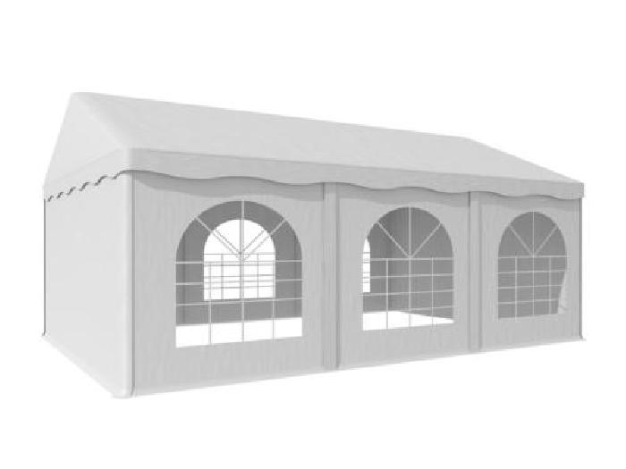 Tonnelle barnum 4x6m fenêtres chapiteau jardin extérieur PVC étanche ...