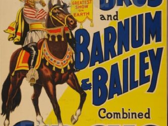 BARNUM BAILEY CIRCUS Rntq-POSTER/REPRODUCTION 70x90cm* d1 AFFICHE VINTAGE