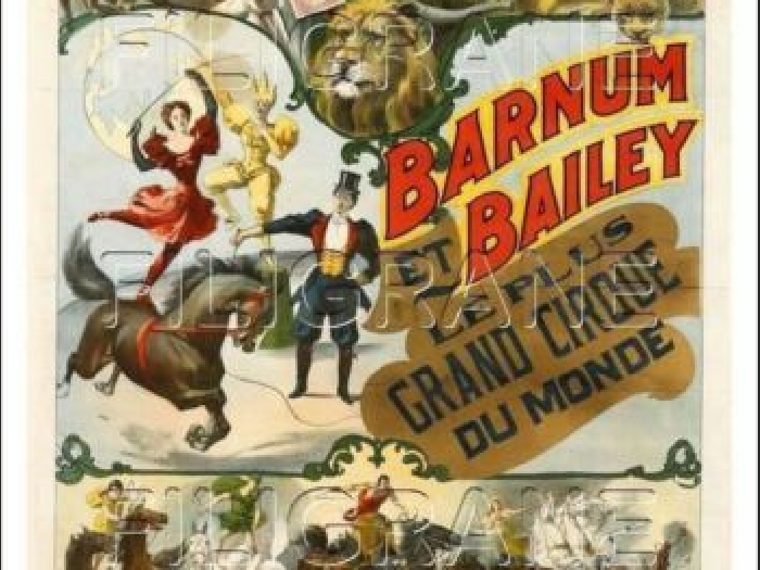 POSTER/REPRODUCTION 40x60cm* d1 AFFICHE VINTAGE CIRCUS/CIRQUE BARNUM BAILEY n°3