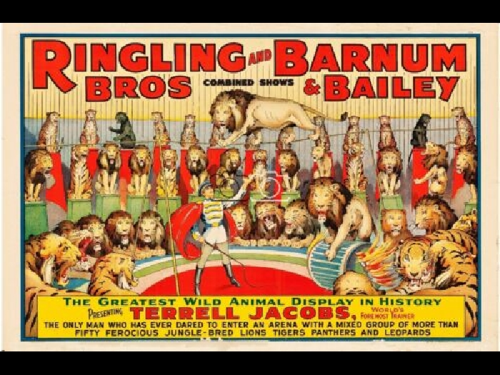 CIRQUE RINGLING BROS BARNUM BAILEY Rhkr-POSTER 40x60cm* d1 AFFICHE VINTAGE