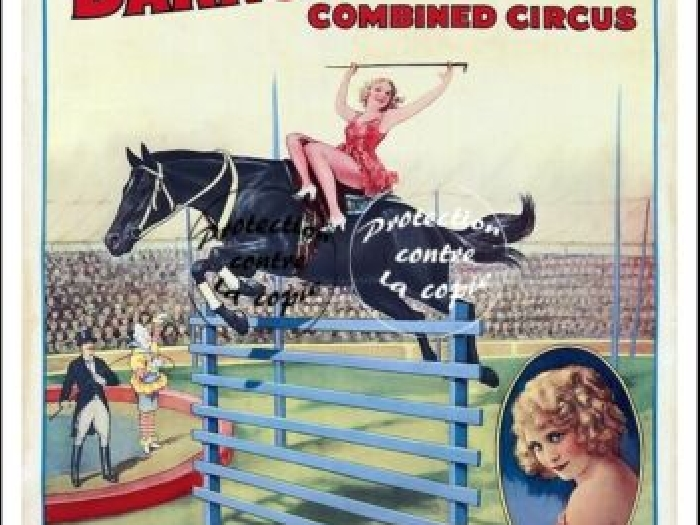 CIRQUE RINGLING BROS BARNUM BAILEY R234 POSTER 40x60cm* d1 AFFICHE VINTAGE