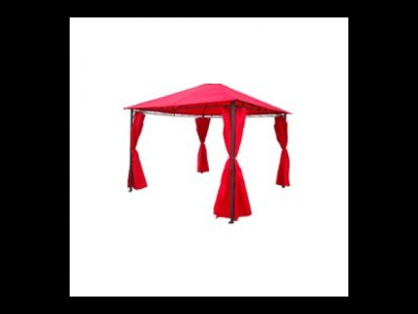 tente de jardin pergola tonnelle barnum 3x3 m tres rouge tente barnum. Black Bedroom Furniture Sets. Home Design Ideas