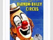 Circus Greatest Show Barnum Bailey Ringling Clown Nez Rouge Art Print B12 X...