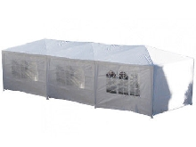 TONNELLE 3X9 M BARNUM PARTY TENT TENTE DE RECEPTION CHAPITEAU, COTES DEMONTABLES