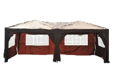 Outsunny Tonnelle Barnum Pliant Pop-Up Imperméabilisé 6 x 3 x 2,55 m Chocolat