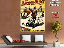 Barnum & Bailey Bicycles Vintage Showbill Wall Print POSTER FR