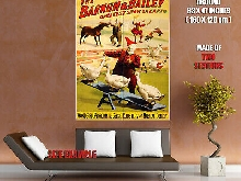 H3809 Barnum & Bailey Vintage Showbill Wall Print POSTER FR