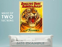 94215 1916 Barnum & Bailey Tiger Circus Decor LAMINATED POSTER FR