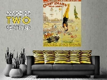 111883 CIRCUS BARNUM CONEY ISL WATER FESTIVAL CLOWN Decor LAMINATED POSTER FR