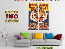 264006 RINGLING BROS. BARNUM AND BAILEY TIGER HEAD CIRCUS PRINT POSTER FR