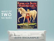 94836 1930s Barnum & Bailey Hungarian Queen Circus Decor LAMINATED POSTER FR
