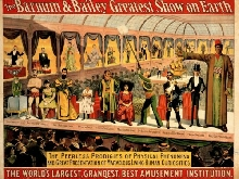320991 CULTURE EVENT FREAK SHOW BARNUM BAILEY PRINT POSTER FR