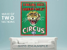 87324 RINGLING BROS BARNUM BAILEY SHOW JAGUAR CAT Decor LAMINATED POSTER FR