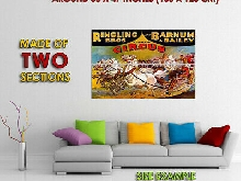 174810 Ringling Bros and Barnum Bailey Circus Horses Decor LAMINATED POSTER FR