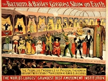 321947 ADVERTISING CULTURAL EXHIBITION FREAK SHOW BARNUM BAILEY PRINT POSTER FR