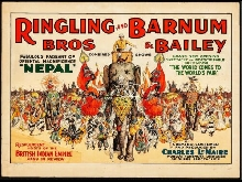 CIRQUE RINGLING BROS BARNUM BAILEY Rlcy-POSTER 80x120c* d1 AFFICHE VINTAGE