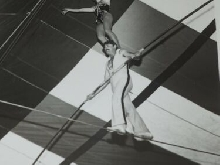 Tandem Tightrope Artiste Spectacle Ringling Brothers Barnum Bailey Cirque 8x10